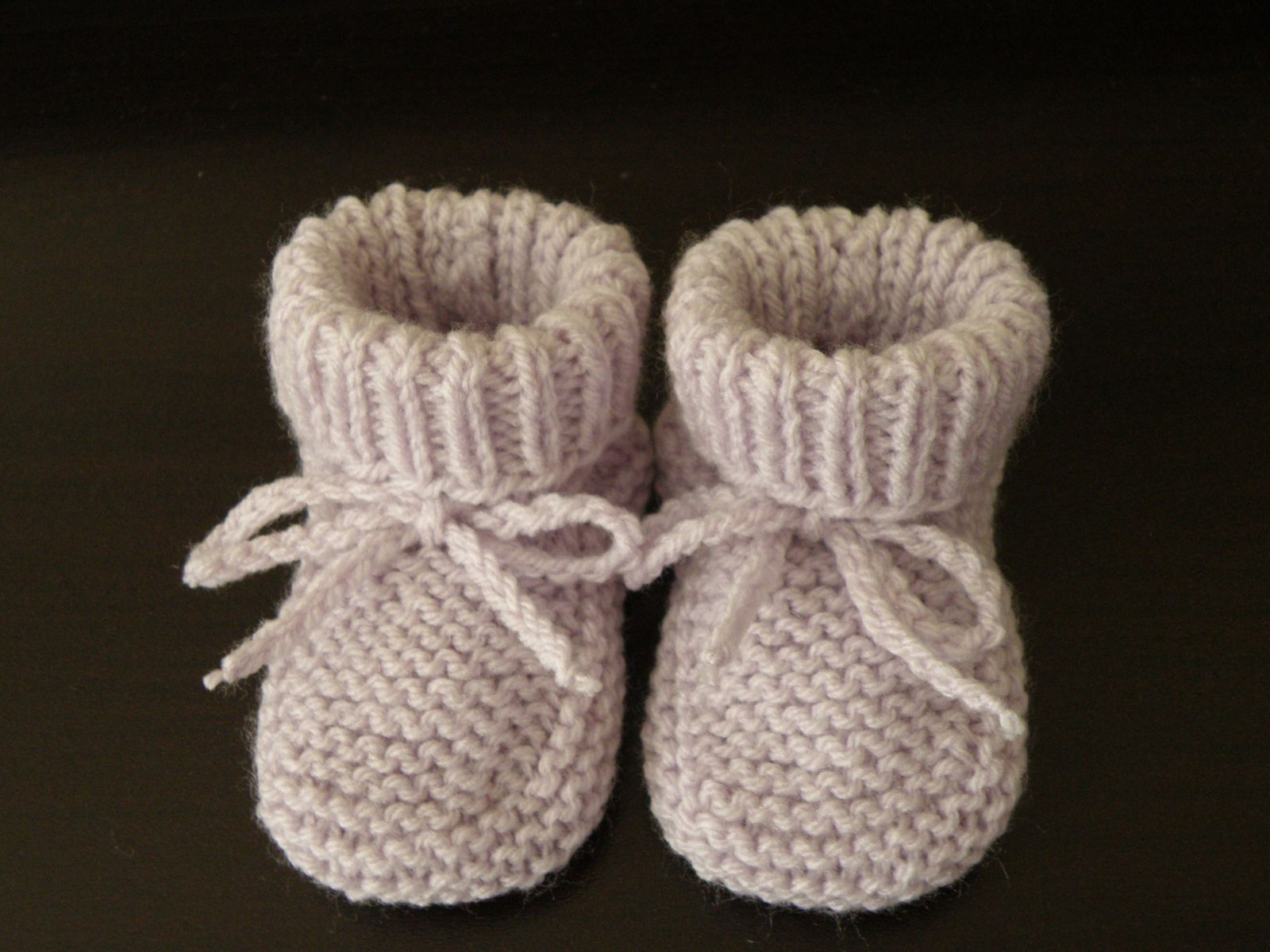 modele tricot chaussons
