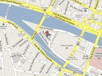 Place Dauphine Map