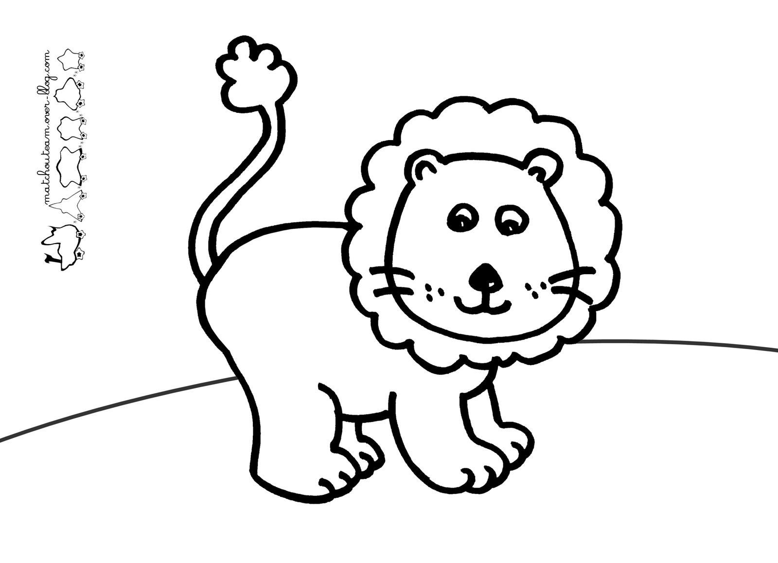 Go miette ma tchou team - Coloriages lion ...