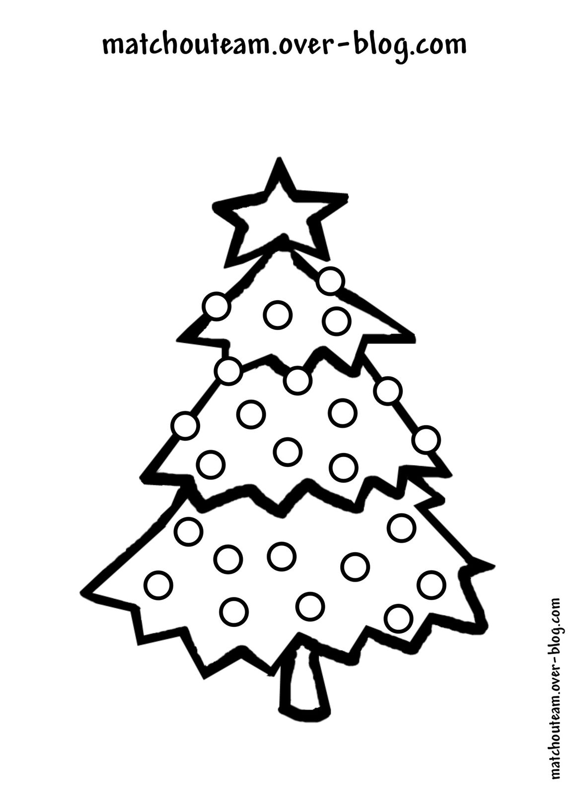 coloriage gommette sapin noeljpg