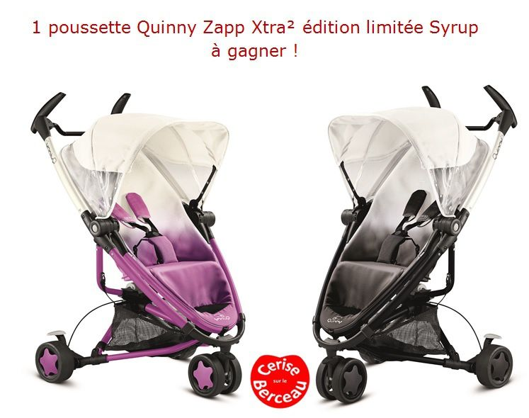 concours une poussette quinny zapp xtra syrup dition. Black Bedroom Furniture Sets. Home Design Ideas