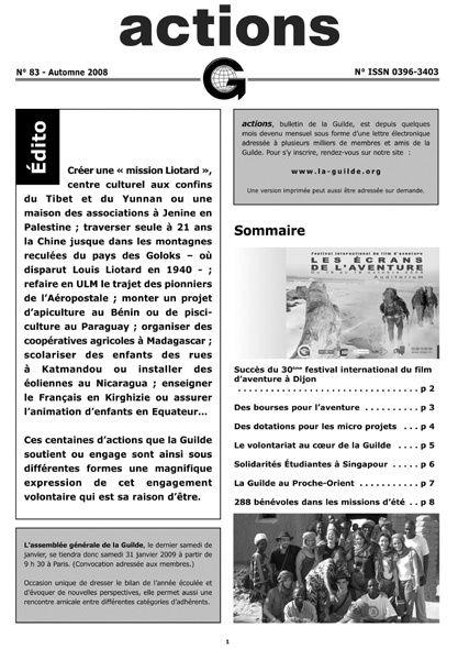 Bulletin ACTIONS n°83