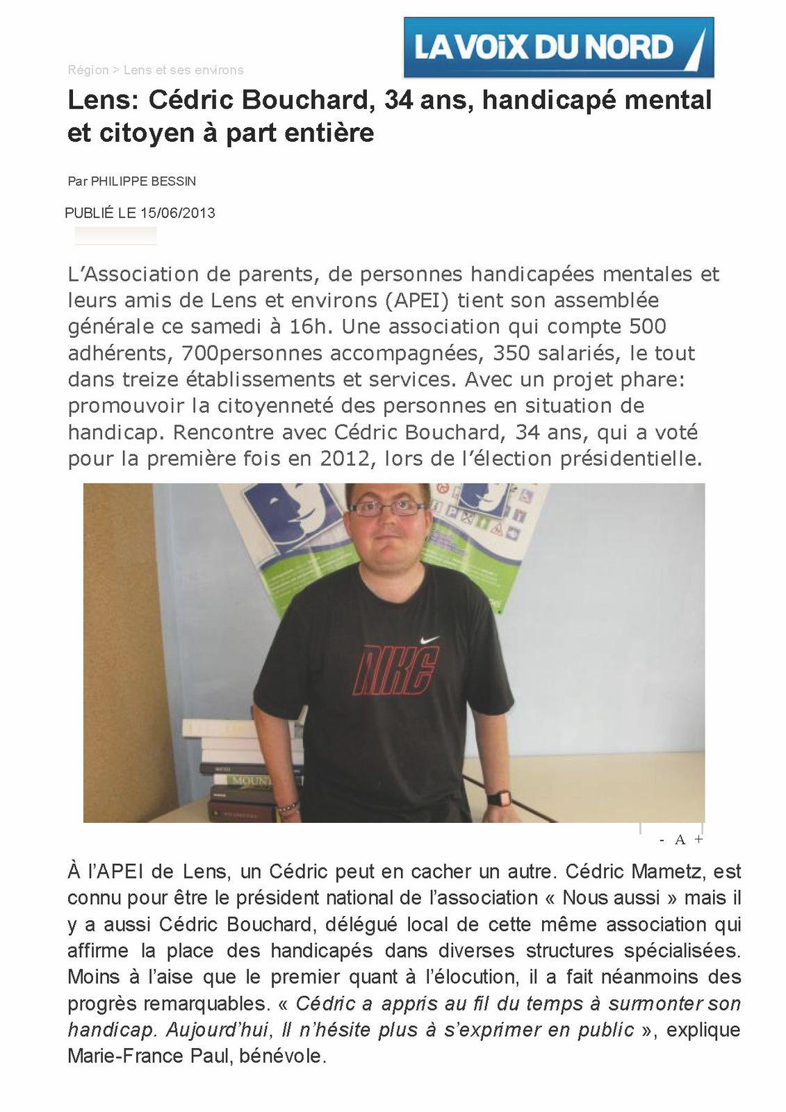 Lens Cédric Bouchard, 34 ans, handicapé mental -copie-1