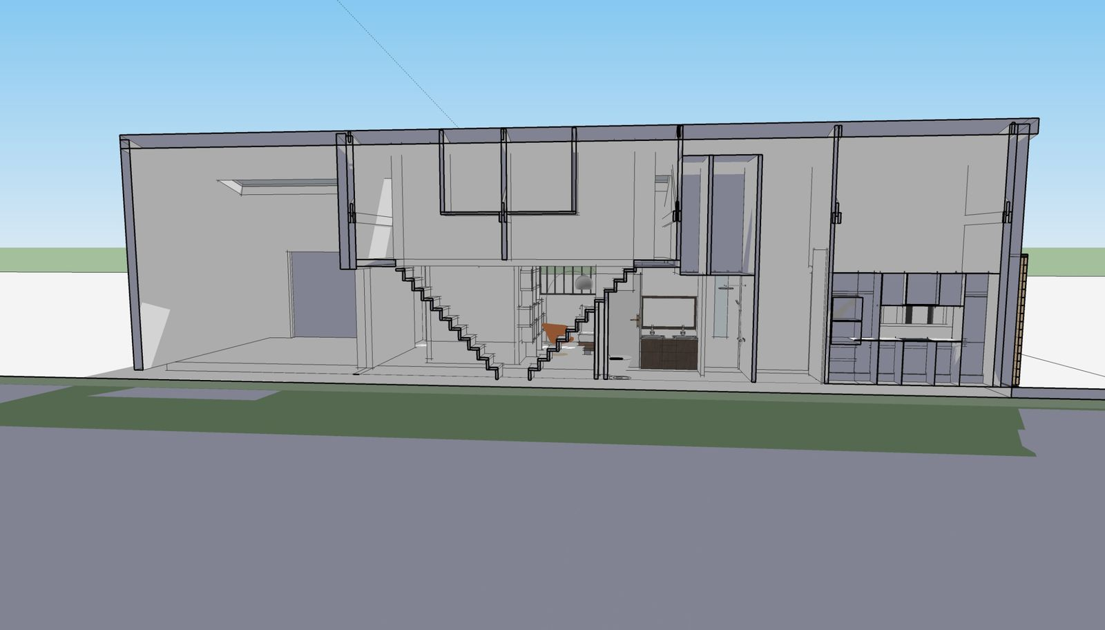 Premi re esquisse du projet r novation d 39 une maison du for Plan de loft