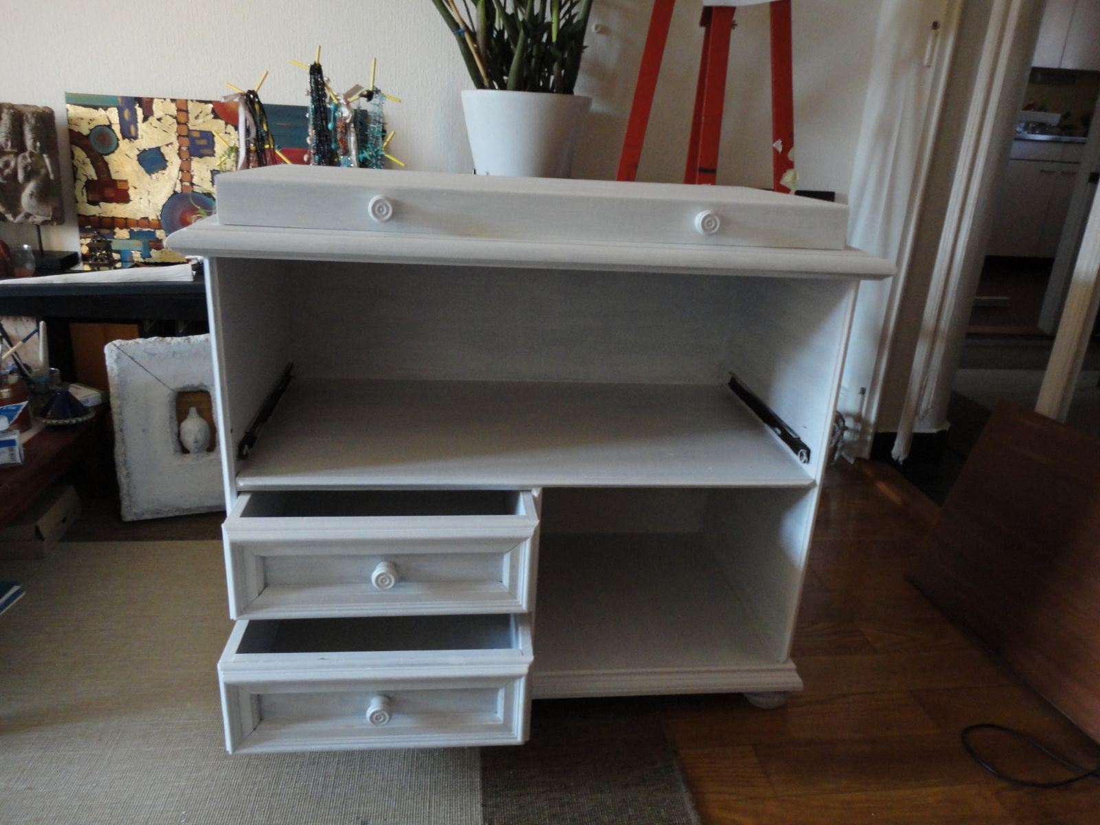 Relooking meuble TV phase 2