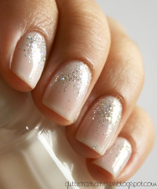 Nude Nails With Glitter Design  Sex Porn Images