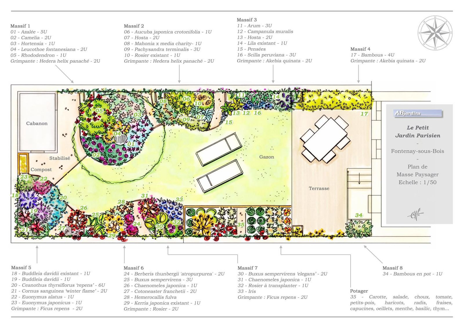 Travaux prives qb paysages for Plan amenagement jardin