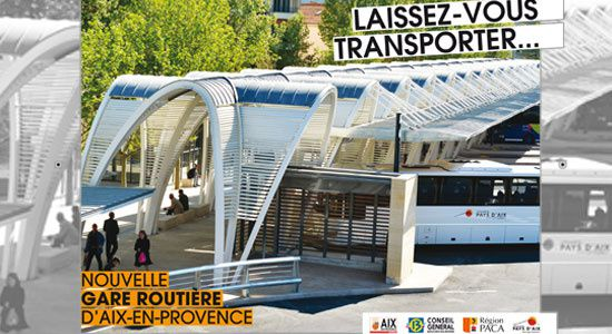 Inauguration de la gare routi re d aix en provence le 17 for Bus salon de provence aix en provence