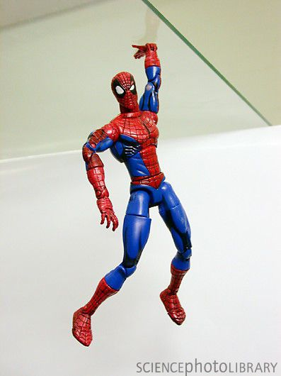 H1000792-Spiderman toy with gecko tape -SPL