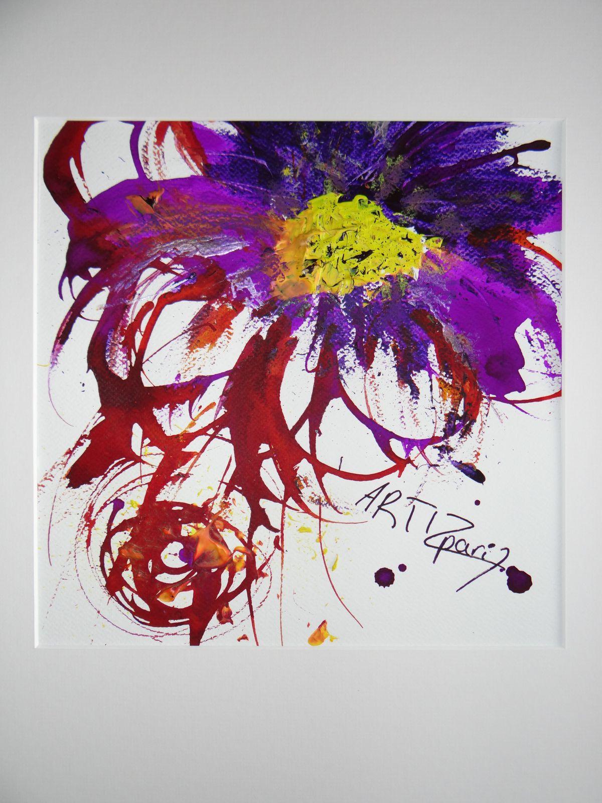 Violette val rie parize alias artize artiste peintre for Peinture violette