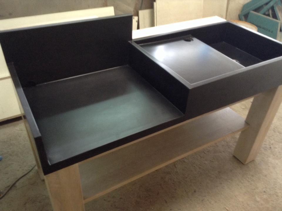 La cuisine b ton balian beton atelier - Meuble exterieur pour plancha ...