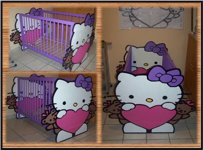 lit b b hello kitty. Black Bedroom Furniture Sets. Home Design Ideas