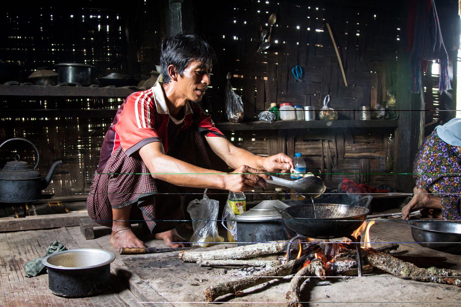 3 jours de trek dans la campagne Birmane...
