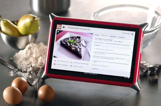 Tablette tactile pour cuisiner qooq v2 french touch for Tablette tactile cuisine