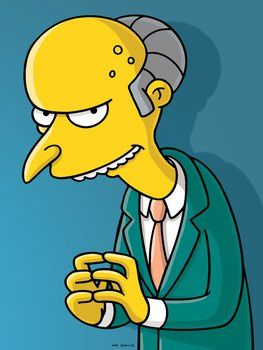 Mr. Burns The Simpsons.263w 350h
