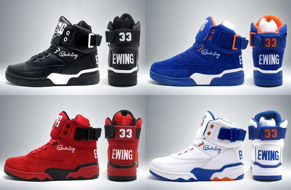 Ewing Athletics Ewing 33 Hi Black Red Special Basketball