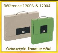 Vign mallette carton recycle ref 12003 12004