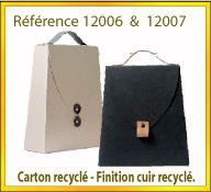 Vign mallette carton recycle ref 12006 12007