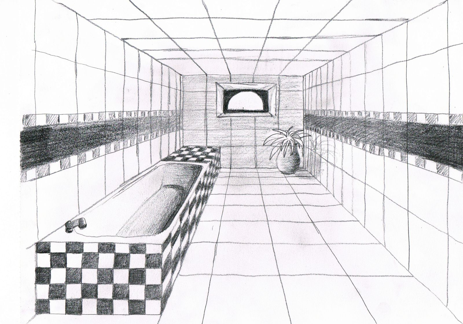Modele Batiment En Perspective : Initiation au dessin de perspective emmy be créa