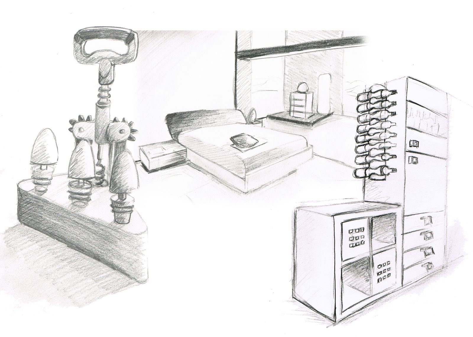 comment dessiner des objets en perspective. Black Bedroom Furniture Sets. Home Design Ideas
