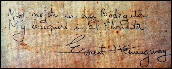 Hemingway Bodeguita 1