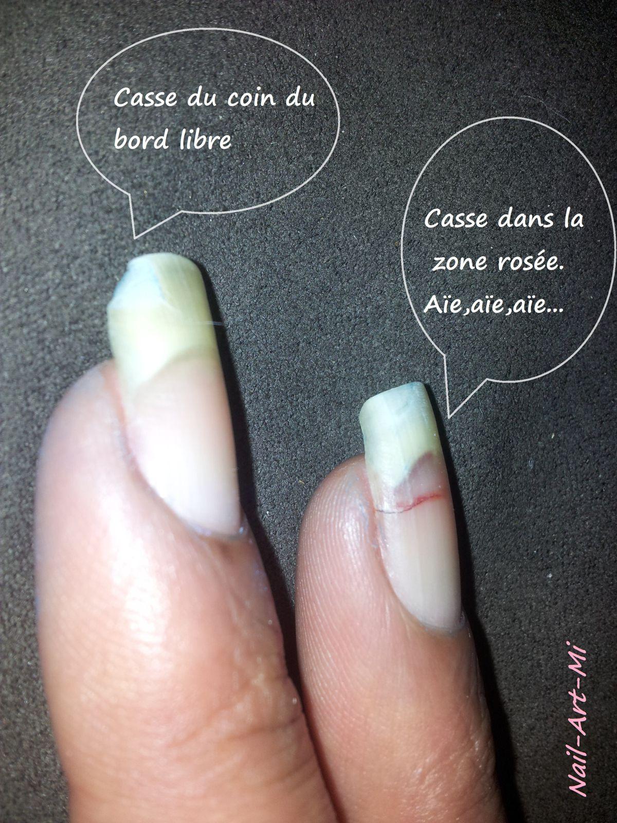 Réparation d\u0027un ongle fissuré , Mi,Nail,Art