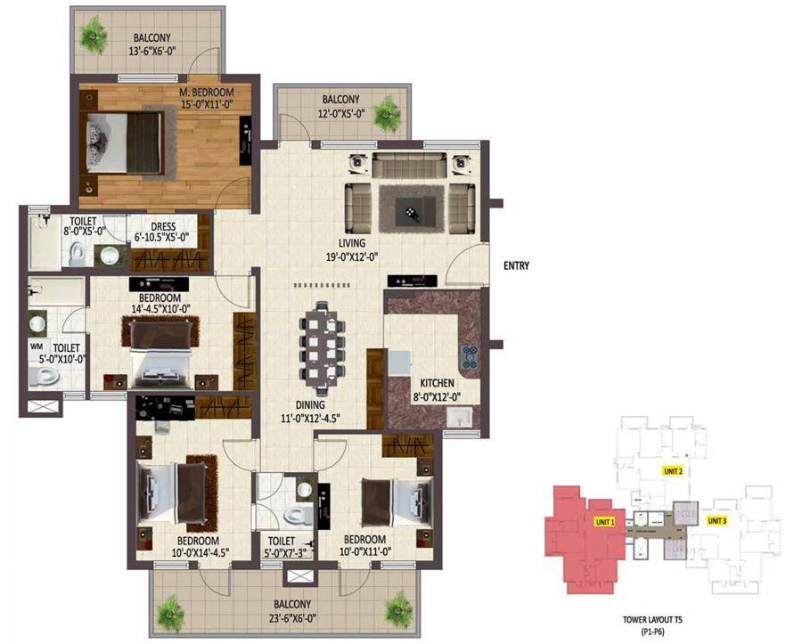 1 bhk 2bhk 3bhk 4 bhk luxury apartments in gurgaon for 1 bhk apartment design