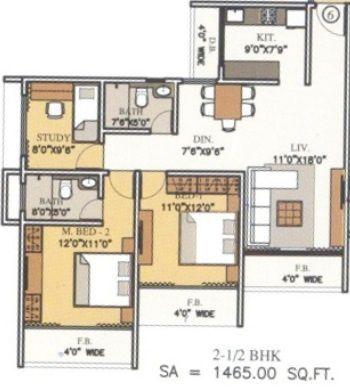 runwal elgante floor plan