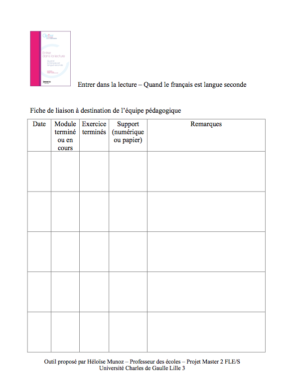 Cahier Journal Fle
