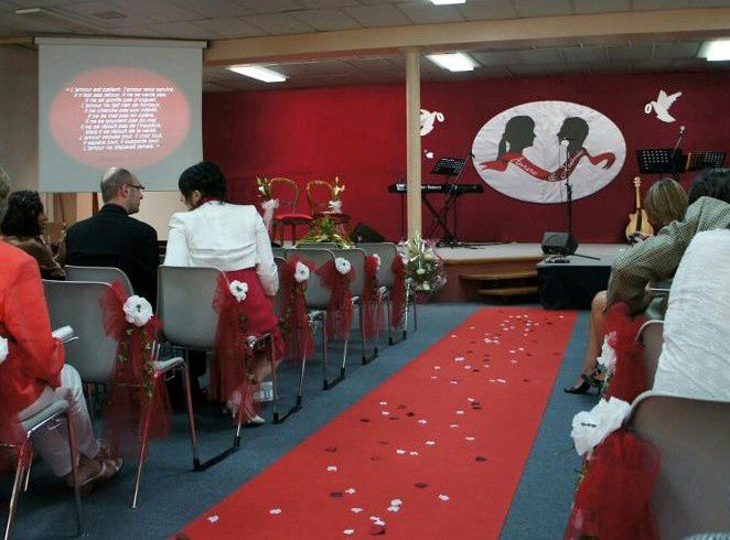 medaillon mariage rugby rouge argent
