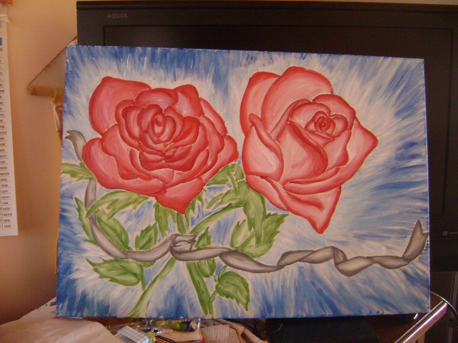 Pin quadro con rose on pinterest for Quadri con rose rosse