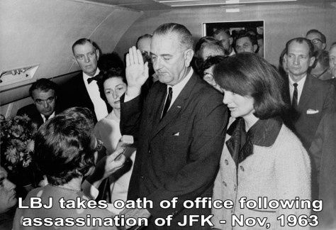 lyndon b- johnson taking the oath of office november 1963-b
