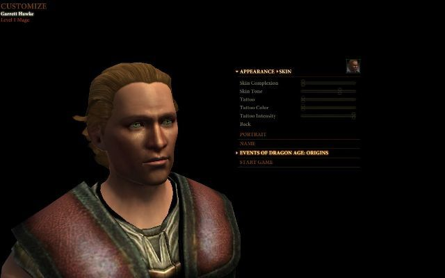 DragonAge2 creation personnage