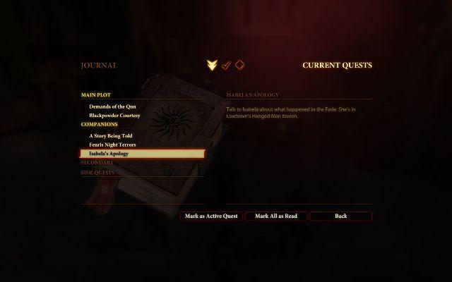 DragonAge2 quests