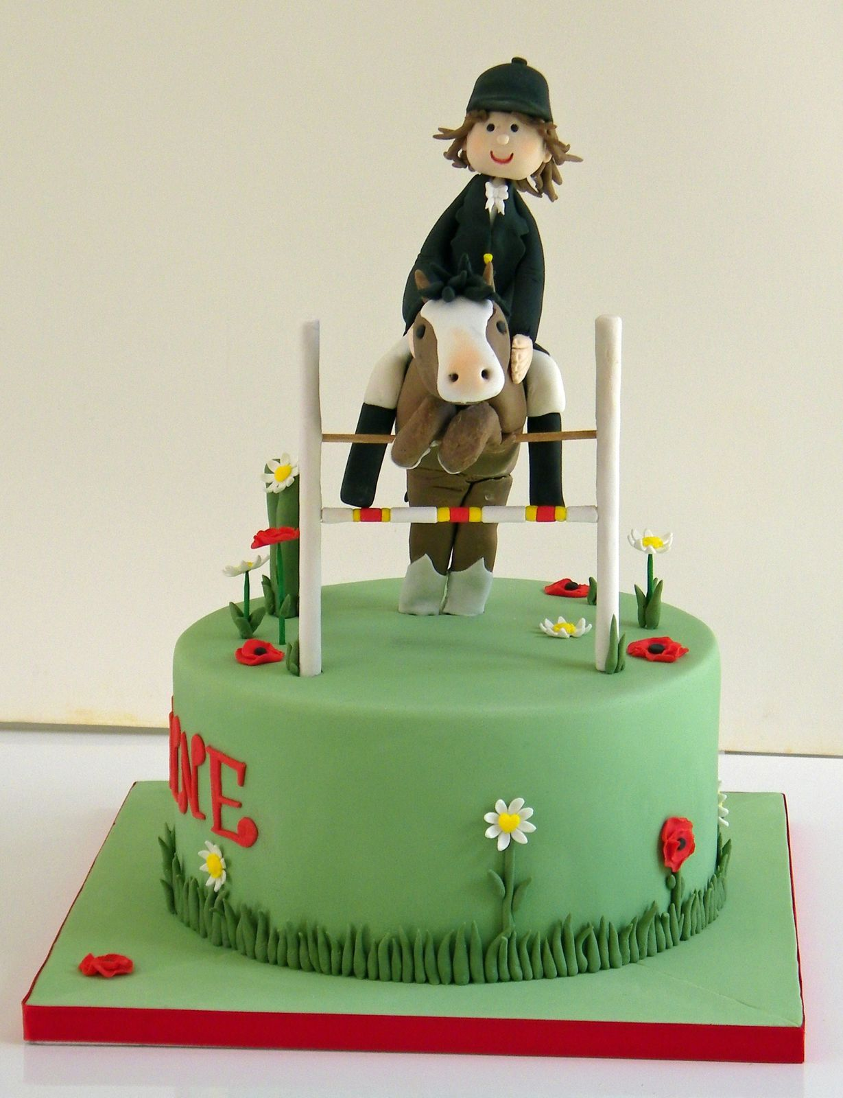 decoration gateau equitation