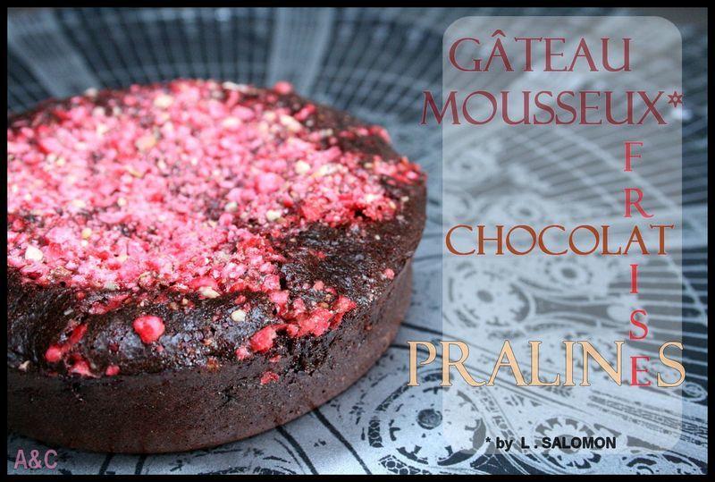 Gateau au chocolat fondant fraise