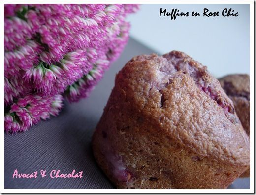 Muffins Chic litchis, framboise, champagne et biscuits de reims