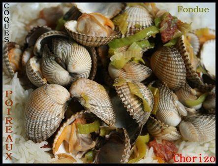 poelée de coque à la fondu de poireaux au chorizo (1)