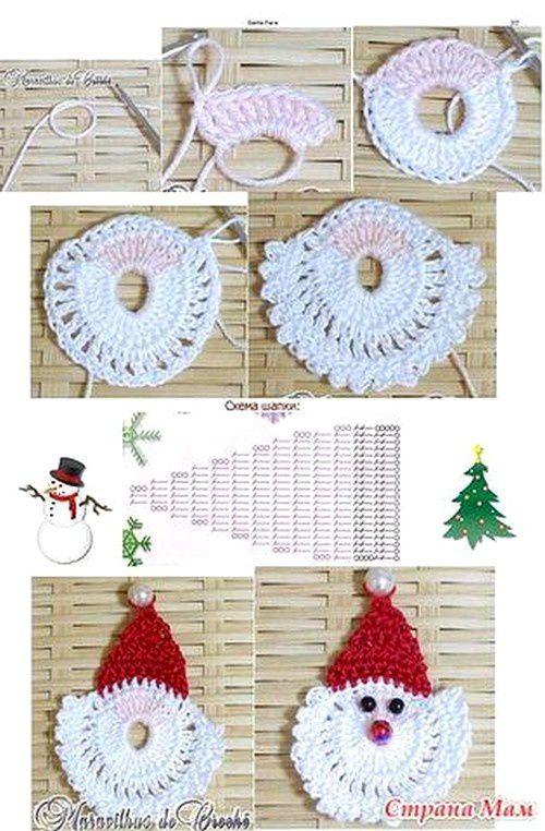 decoration de noel au crochet gratuit. Black Bedroom Furniture Sets. Home Design Ideas