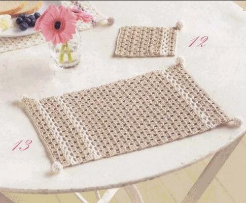Sets de table et leurs grilles gratuites au crochet for Set de table verre