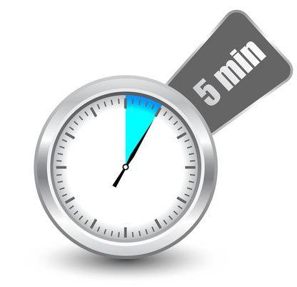 cinq minutes chrono