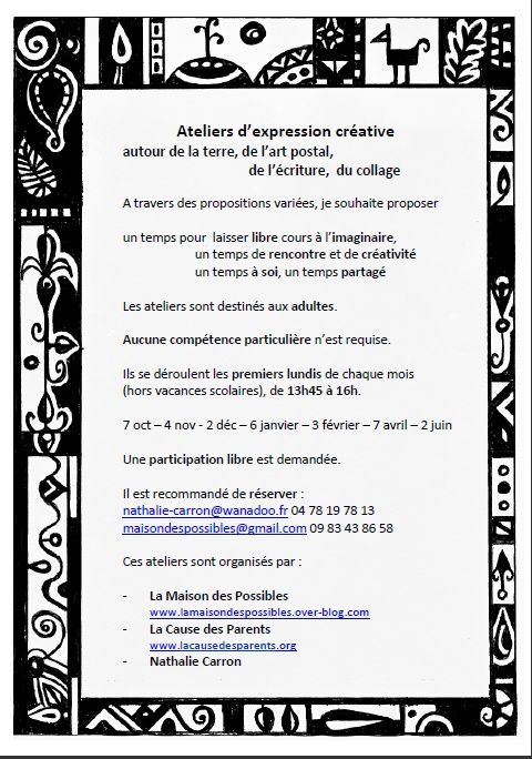 Flyers Atelier Expression créative