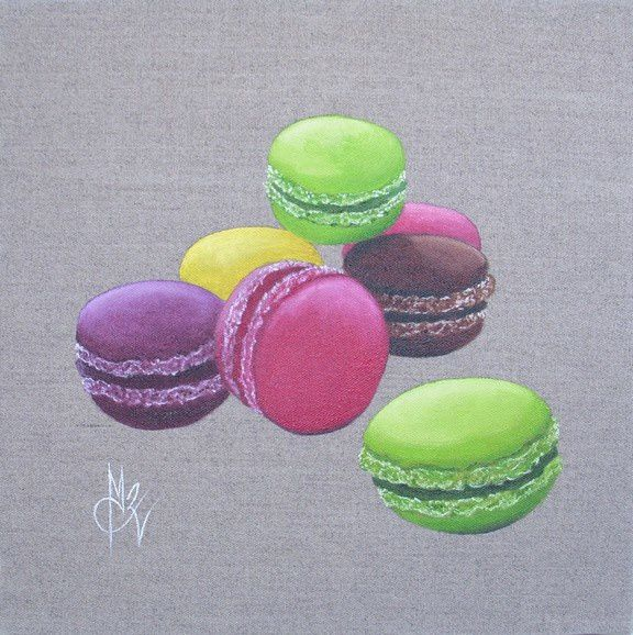 macarons art du vin vinum art peinture chantal rousselet. Black Bedroom Furniture Sets. Home Design Ideas