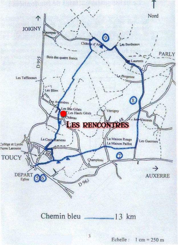 chemin bleu 13km