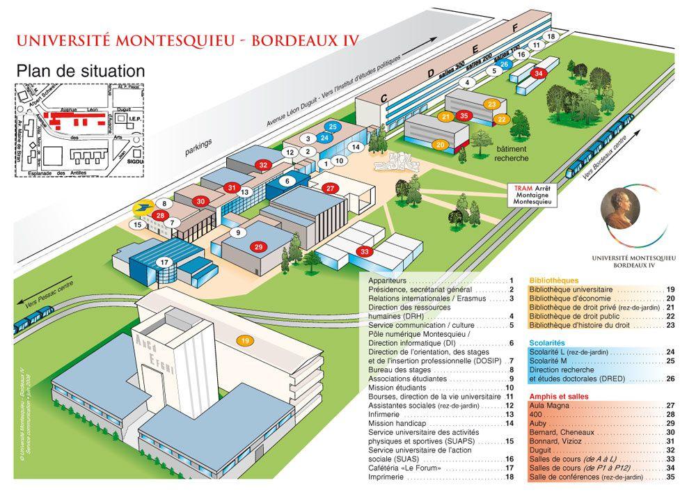 Carte Universite Bordeaux.Se Reperer Sur Le Campus Le Blog De Vie Etudiante Oulala