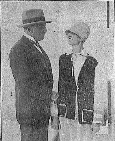 Pierre-Frondaie avec son épouse jeanne Lovaton
