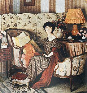Anna-de Noailles dans-son-salon