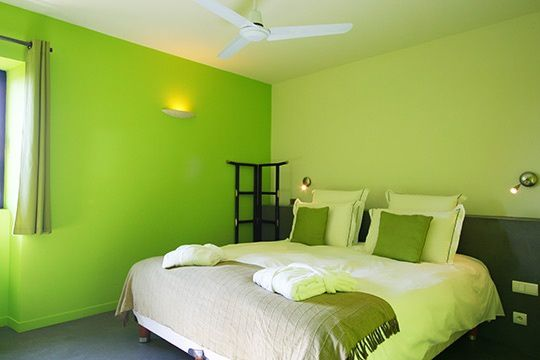 D co chambre verte for Decoration chambre verte