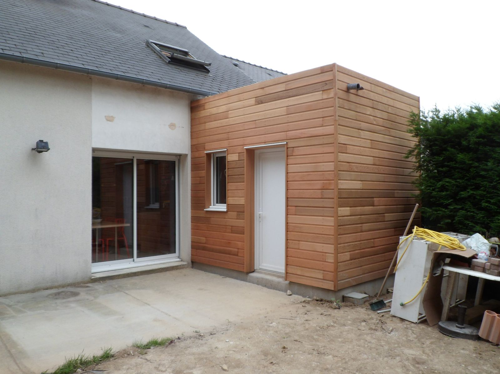 Double extension bois red cedar nantes le blog de koba for Extension en bois