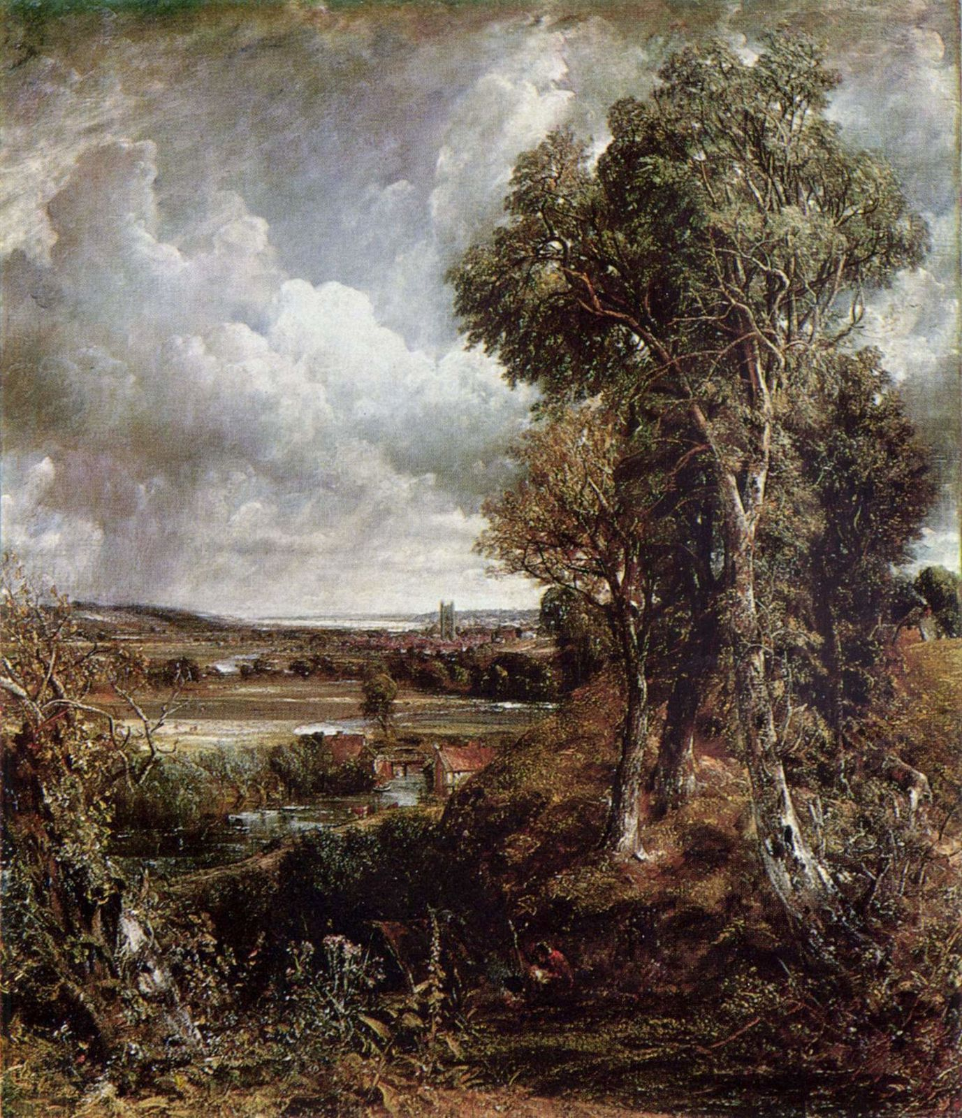 John Constable THE VALE OF DEDHAM 1828 145X122CM HUILE SUR